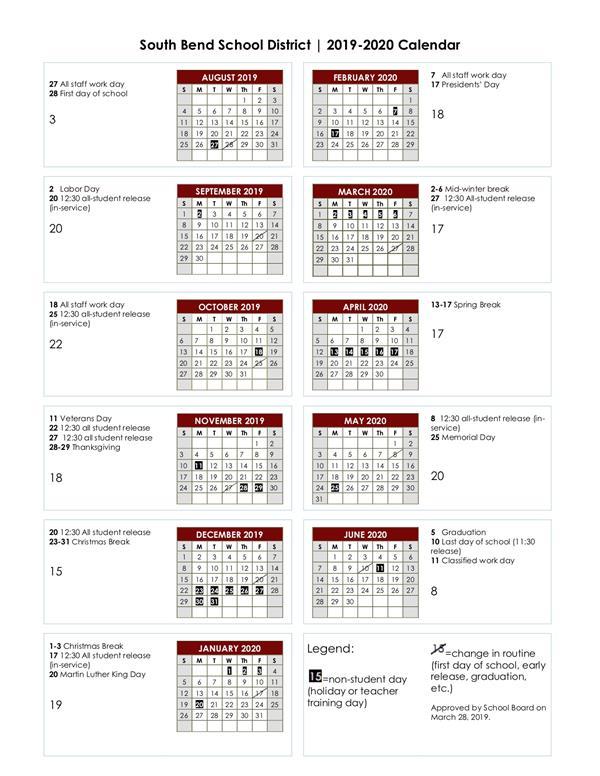 Uc Davis Academic Calendar.South Bend Public Schools Homepage
